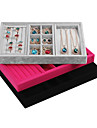 Jewelry Boxes Flannelette / Paper Geometric Rose / Black / Gray