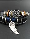 charme aile cru de bracelet d'enveloppe des hommes