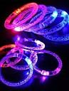 주도 깜박이는 팔찌 디자인 플라스틱 파티 빛 스틱을 주도 (임의의 색상 x1pcs)