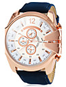 Men's Watch Military Style Rose Gold Case Leather Band  Cool Watch Unique Watch