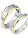 "Golden ""Forever Love"" Between Fashion Titanium Steel Couple Ring Promis rings for couples"