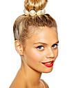shixin® classicos branco perola europeu elasticas lacos de cabelo (1 pc)