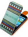 For Samsung Galaxy Case Flip / Pattern Case Full Body Case Lines / Waves PU Leather Samsung S3