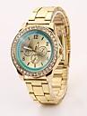Новый высокое качество мода кожа повседневная уникальные набором кварцевые часы женщины одеваются C&D113