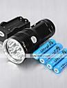 Lampes Torches LED Mode 6000 Lumens Rechargeable / Résistant aux impacts / Tête crénelée Cree XM-L T6 18650Camping/Randonnée/Spéléologie