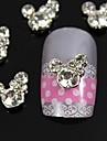 10pcs rhinestone mignon souris 3d diy alliage accessoires decoration d\'ongle art
