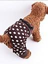 Dog Pants Brown Dog Clothes Spring/Fall Polka Dots
