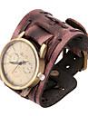 패션 시계 20cm 남자의 갈색 가죽 가죽 팔찌 (갈색) (1 개)