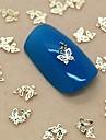 200PCS 이중 중공 나비 황금 금속 슬라이스 네일 아트 장식