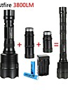 LT-BG T6 New Design 5-Mode 3×Cree XM-L LED Flashlight(3000LM,2x18650,Black)