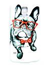 motif de chien de lunettes mince couverture de cas dur pour les i9600 Samsung Galaxy S