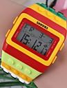 女性のファッショナブルなカラフルワイドストラップが主導プラスチック時計(1個)(アソートカラー)