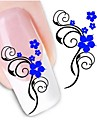 Water Transfer  Printing  Nail Stickers XF1440