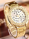 Women\'s Fashion Sexy Leopard Rhinestones Steel Belt Watch Cool Watches Unique Watches Strap Watch