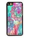 cadeau personnalise fleur elegant boitier design en metal pour iPhone 5c