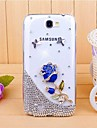 For Samsung Galaxy Note Rhinestone / Transparent / Pattern Case Back Cover Case 3D Cartoon PC Samsung Note 2