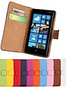 Pour Coque Nokia Portefeuille Porte Carte Avec Support Coque Coque Integrale Coque Couleur Pleine Dur Cuir PU pour Nokia Nokia Lumia 820