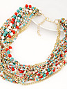 European Style Multilayer Beads Strand Necklace