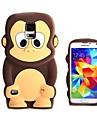 Pour Samsung Galaxy Coque Antichoc Motif Coque Coque Arrière Coque Dessin Animé 3D Silicone pour Samsung S5