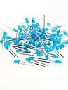 синий свет привел 3мм светодиоды для теста Arduino (50 шт)