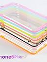 cristal transparente caso fina clara para iphone 6 mais (cores sortidas)