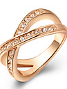 European Austria Crystal Platinum Cross Alloy Statement Rings(1 Pc)