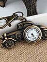 Unisex Alloy Analog Quartz Keychain Watch with Retro Car (Bronze)(1Pc) Cool Watches Unique Watches