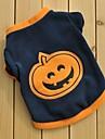 Cat / Dog Shirt / T-Shirt Black Dog Clothes Winter / Spring/Fall Cartoon Keep Warm / Halloween