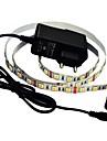 jiawen® 1м 5w 60x5050smd 3000-3200К теплый белый светодиодные ленты + 1a питания (AC 110-240)