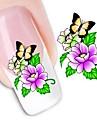 1 Sticker Manucure  Autocollants de transfert de l\'eau Autocollants 3D pour ongles Fleur Maquillage cosmetique Manucure Design