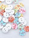 цветочный альбом scraft швейные DIY Деревянные кнопки (10 шт случайный цвет)