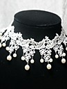 Choker Necklaces Pearl / Lace / Rhinestone Wedding / Party / Daily / Casual / Sports Jewelry