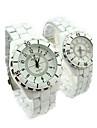 Couple's Steel Watch Ceramic Quartz Watch Cool Watches Unique Watches Fashion Watch