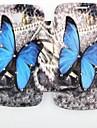 borboleta azul padrão incrustados zircão virar caso folio para samsung 7392