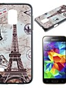 Maps and the Eiffel Tower Pattern PC Hard Case for Samsung Galaxy S5 Mini G800
