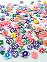 300pcs estilo misto de arte series flor fatia fimo decoracao de unhas