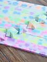 30 шт флуоресцентный эффект я тебя люблю шаблонов счастливая звезда оригами материалы (Random Color)