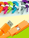 2 in 1 USB 8 pin / microUSB lataus synkronointidatan litteä johto iPhone5 / 5s / 6/6 plus / samsung 1m 3.3ft