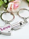Personalized Engraving Stone Mandrel Metal Couple Keychain