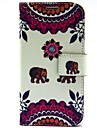 For Samsung Galaxy Case Card Holder / with Stand / Flip / Pattern Case Full Body Case Elephant PU Leather Samsung S5