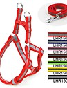 Cat / Dog Harness Reflective / Adjustable/Retractable Red / Black / Green / Blue / Brown / Pink / Yellow Nylon