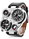 multifuncion reloj militar zonas horarias duales de los hombres de moda personalizados brujula y termometro