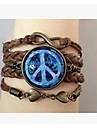 Bracelet Bracelets Wrap Alliage / Cuir / Verre Inspiration Quotidien / Decontracte / Sports Bijoux Cadeau Brun