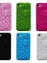 3d роза рисунок силиконового мягкий чехол для Iphone 4 / 4S (разных цветов)