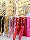 Для Кейс для  Samsung Galaxy Бумажник для карт / со стендом / Флип Кейс для Чехол Кейс для Один цвет Искусственная кожа Samsung S3