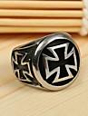 Men\'s Europe Personality Cross Titanium Steel Ring