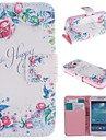 For Samsung Galaxy Case Card Holder / with Stand / Flip / Pattern Case Full Body Case Flower PU Leather Samsung S4 Mini
