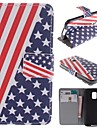 For Samsung Galaxy Case Card Holder / with Stand / Flip / Pattern Case Full Body Case Flag PU Leather Samsung S5 Mini