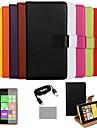 Коко fun® сверхтонкий цветом натуральной кожи с пленки, кабеля и стилус для Nokia Lumia N625 (ассорти цветов)