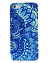 Two Blue Flowers Pattern Hard Case for iPhone 4/4S